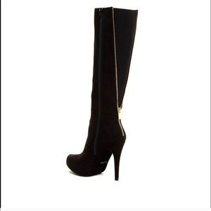 Aldo knee high black boots with zipper size 8.5